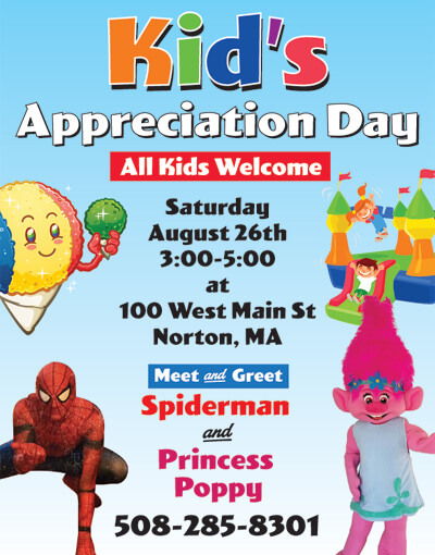 Kids Appreciation Day Norton Dentist