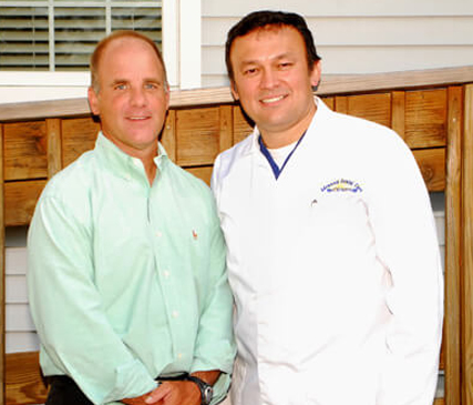 Dr. Gracia with Mike Zepf, Office Manager